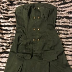 True Love strapless military mini dress, small